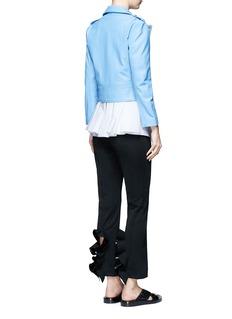 TOGA ARCHIVESRuffle cutout cuff textured pants