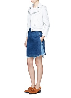 TOGA ARCHIVESKnotted fringe sleeve cotton T-shirt