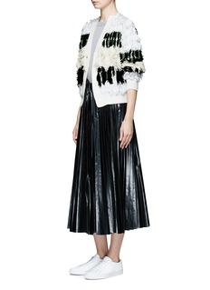 TOGA ARCHIVESFringe cotton blend cardigan