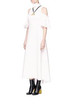 Ellery'Deity' funnel neck cold shoulder dress
