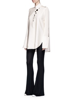 Ellery 'Visual Wonder' shell button stand collar blouse