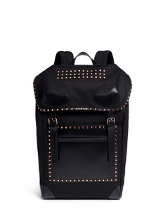 Givenchy 'Rider' round stud leather panel backpack