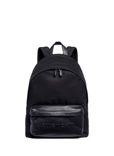 Givenchy 'C1' leather pocket cotton twill backpack