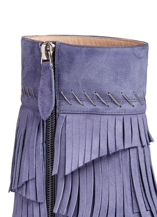 Detail View - Click To Enlarge - Aperlai - 'Penelope' fringed suede boots