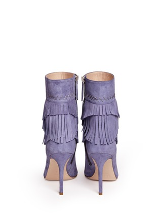 Back View - Click To Enlarge - Aperlai - 'Penelope' fringed suede boots