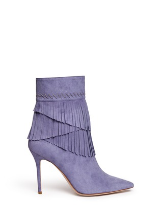 Main View - Click To Enlarge - Aperlai - 'Penelope' fringed suede boots