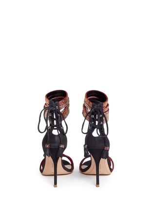 Back View - Click To Enlarge - Sophia Webster - 'Adeline' strass pavé strap suede sandals