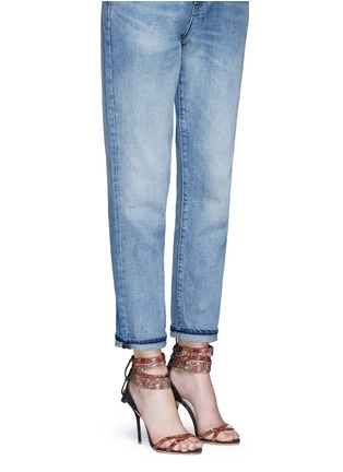 Figure View - Click To Enlarge - Sophia Webster - 'Adeline' strass pavé strap suede sandals