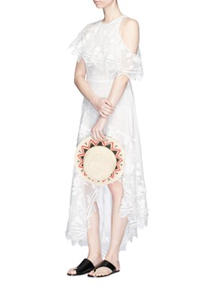Zimmermann 'Mercer Bird Floating' embroidered silk dress