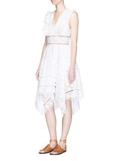 Zimmermann 'Divinity Wheel' ruffle embroidered cotton dress