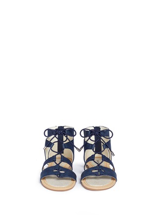 Figure View - Click To Enlarge - Stuart Weitzman - 'Camia Romanesque' kids gladiator sandals
