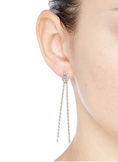 Philippe Audibert 'Wimy' textured bar jacket drop earrings