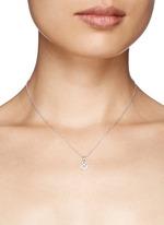 'And &' diamond pendant necklace