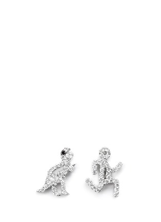 Main View - Click To Enlarge - Khai Khai - 'Running Man' diamond earrings