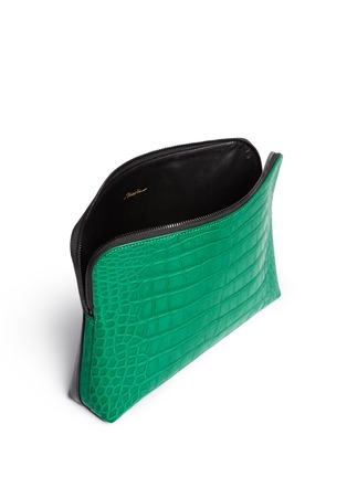 3.1 PHILLIP LIM - '31 Minute' alligator leather cosmetic pouch
