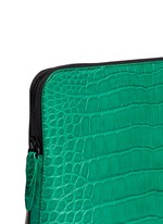 '31 Minute' alligator leather cosmetic pouch