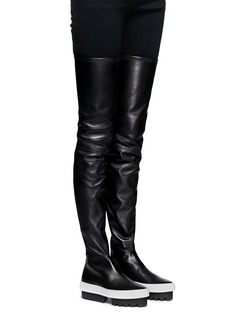 Givenchy Chunky platform lambskin leather sneaker boots