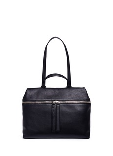 Kara Pebbled leather top handle satchel