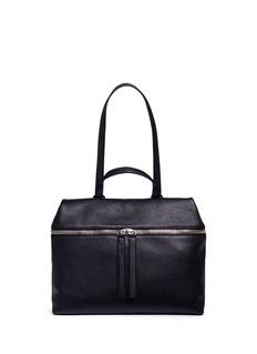 KaraPebbled leather top handle satchel