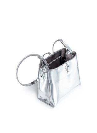 - Kara - 'Tie Crossbody' nano mirror leather bag