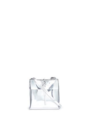 Main View - Click To Enlarge - Kara - 'Tie Crossbody' nano mirror leather bag