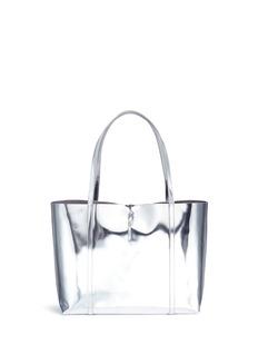 Kara'Tie Tote' mirror leather bag