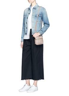 KaraMicro leather crossbody satchel