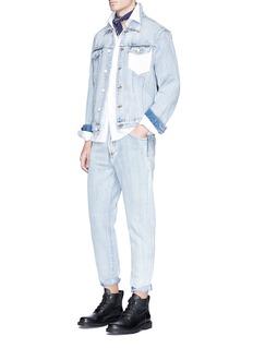 3.1 Phillip LimCrochet pocket bleached denim jacket