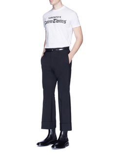 Dsquared2 Roll cuff flare pants