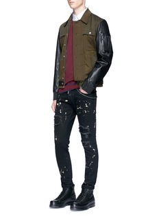 Dsquared2 'Skater' bleached patchwork skinny jeans