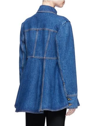 Back View - Click To Enlarge - Ellery - 'Pro Protest' peplum hem denim jacket