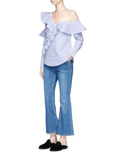 Ellery 'Pyramid' high rise kick flare denim pants