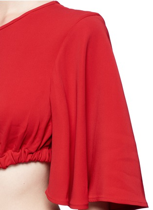 Detail View - Click To Enlarge - Ellery - 'Solar System' ruched cut-out maxi dress