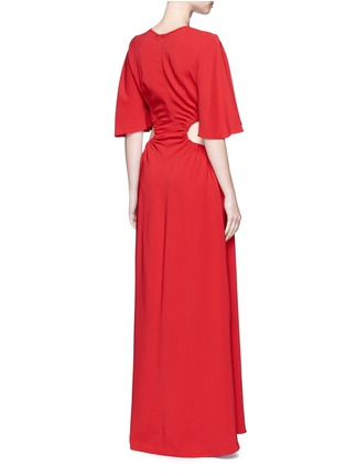 Back View - Click To Enlarge - Ellery - 'Solar System' ruched cut-out maxi dress
