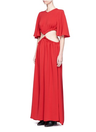 Front View - Click To Enlarge - Ellery - 'Solar System' ruched cut-out maxi dress