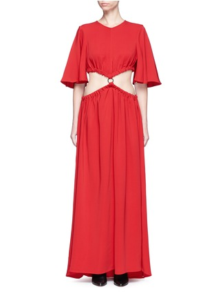 Main View - Click To Enlarge - Ellery - 'Solar System' ruched cut-out maxi dress