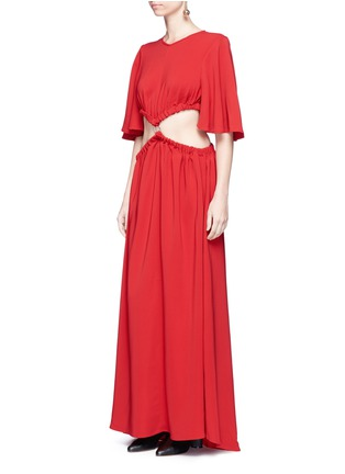 Figure View - Click To Enlarge - Ellery - 'Solar System' ruched cut-out maxi dress