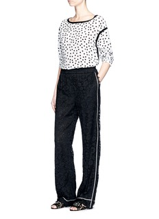 Dolce & GabbanaPolka dot print silk top