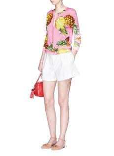Dolce & GabbanaPineapple print silk cardigan