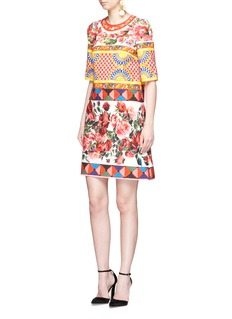 Dolce & Gabbana Mambo print textured cotton A-line dress