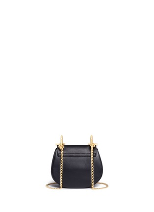 Detail View - Click To Enlarge - Chloé - 'Drew' nano leather flap suede shoulder bag