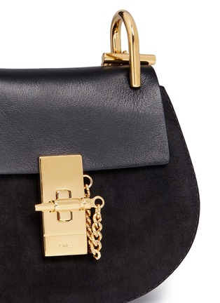 - Chloé - 'Drew' nano leather flap suede shoulder bag