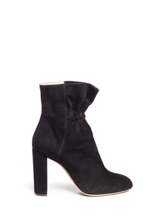 Chloé'Kent' ruched suede ankle boots