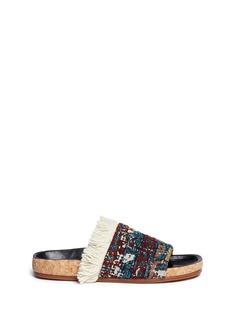 Chloé'Kerenn' fringed rug jacquard slide sandals