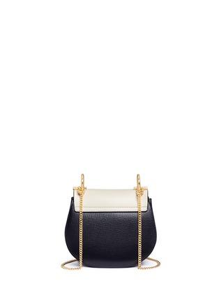 Detail View - Click To Enlarge - Chloé - 'Drew' mini colourblock leather shoulder bag