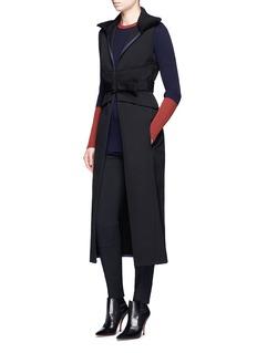 Victoria BeckhamRib knit collar wool gabardine gilet