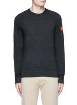 Graphic intarsia cashmere sweater
