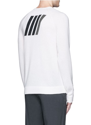 Back View - Click To Enlarge - James Perse - Graphic intarsia cashmere sweater