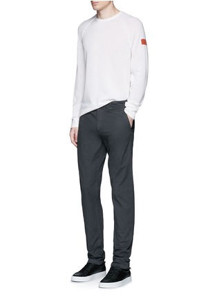 Figure View - Click To Enlarge - James Perse - Graphic intarsia cashmere sweater