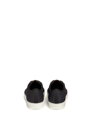 Back View - Click To Enlarge - Lanvin - Gummy toe cap textured leather sneakers